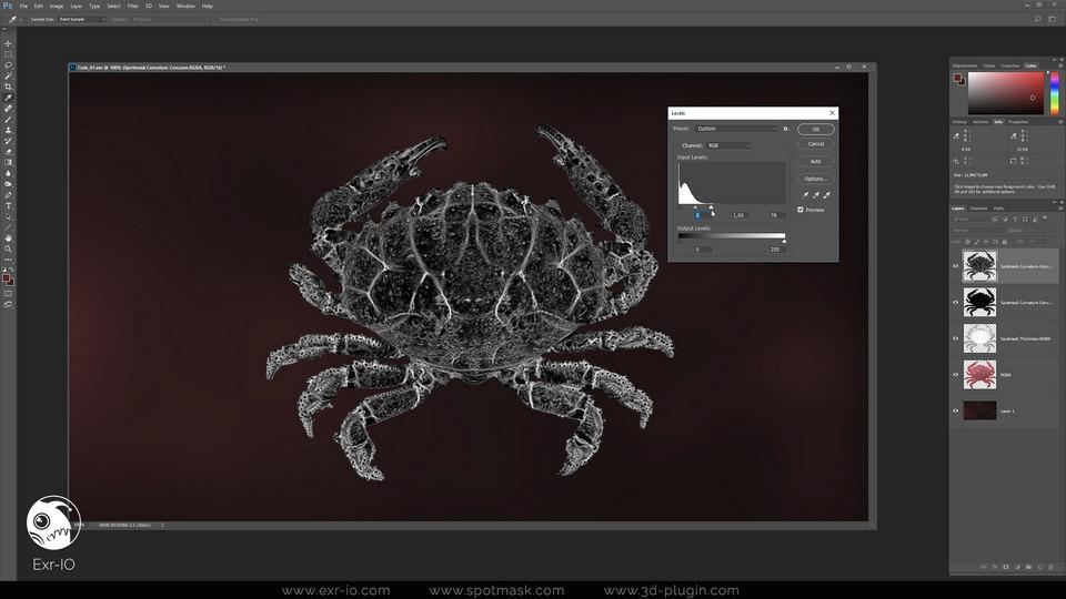 Exr-IO Photoshop Workflow | Exr-IO free Photoshop OpenEXR