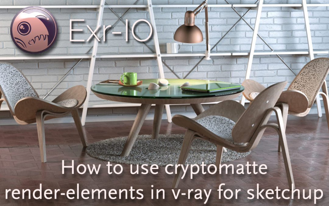 How to use cryptomatte render-elements in v-ray for sketchup