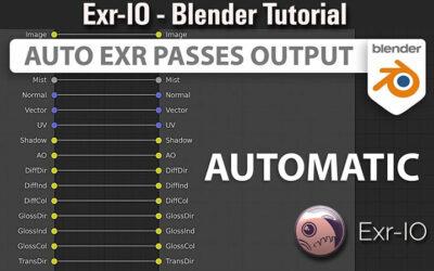 Automate Blender EXR Elements